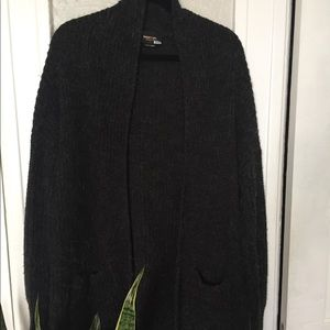 Nasty Gal Collection Wool Blend Charcoal Cardigan